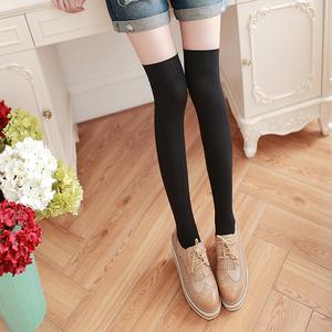长筒袜子女韩国日系过膝盖学生中高筒黑白色防滑及膝半截大腿丝袜