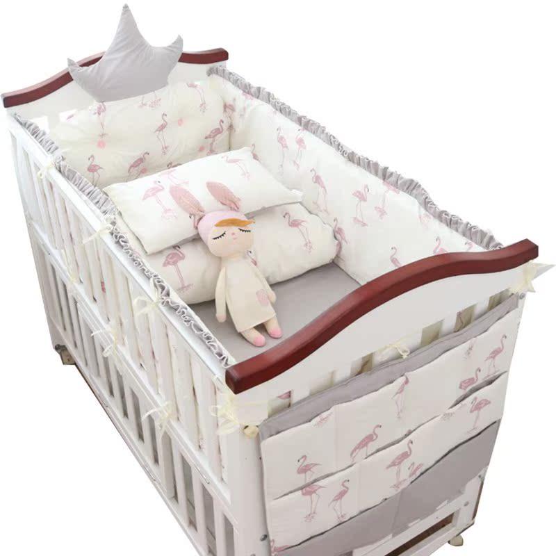 El sueño infantil de algodón alrededor de 安馨 cama cama bebé ropa de cama en cama 四六十 piezas