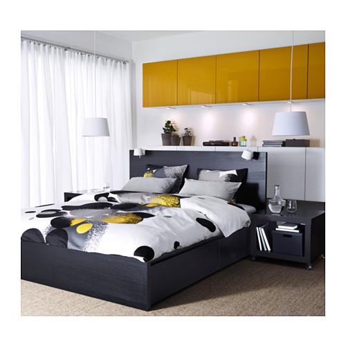 イケアIKEA马尔姆ベッドの枠が含まれ、よんしよ引き出し式の大ロッカー150 * 200国内代購