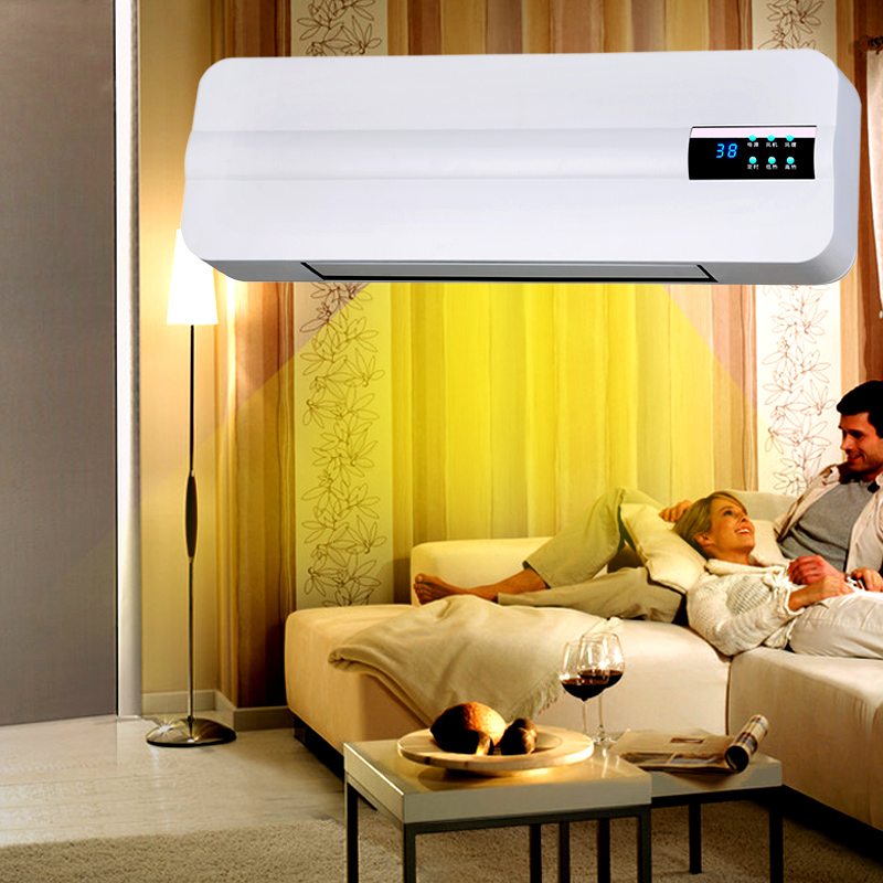 Wall mounted heater, household energy saving and electricity saving warm air heater, bathroom waterproof hot air blower, air conditioner fan, warm and cold dual-purpose