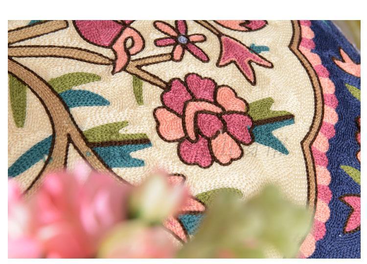 綿の布家居刺繍中国式の田園イケアソファベッドめでたい自動車弁公室の抱き枕クッションカバー