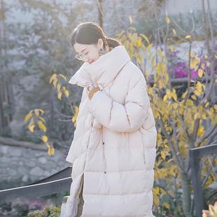 十元诗苑 加厚情侣装羽绒服女长款冬保暖纯色百搭宽松