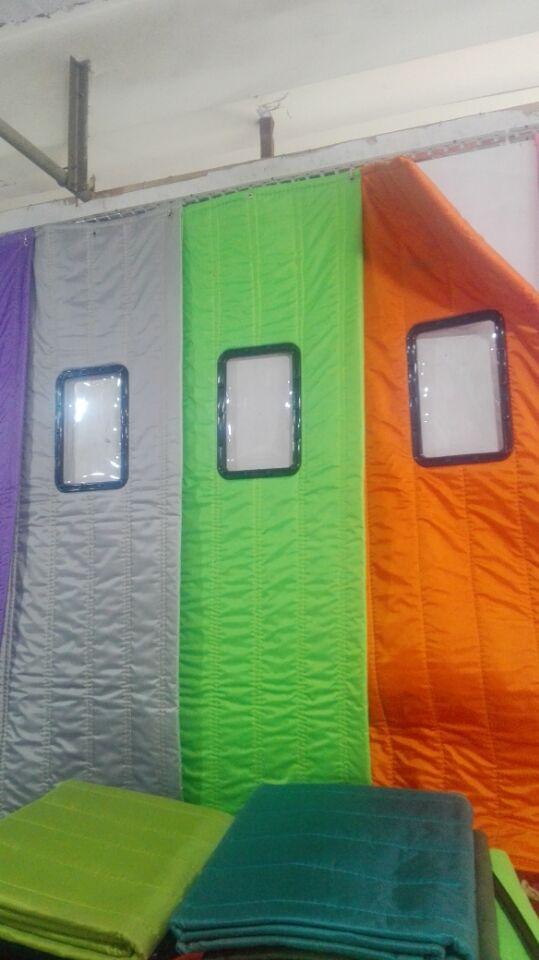 Bolsas de tela de satén de lona de PVC en invierno el frío viento aislamiento acústico de tabiques el algodón cortinas de aire acondicionado