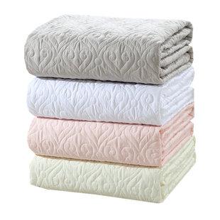 纯棉床笠纯色夹棉床垫罩子席梦思床垫保护套1.35米抗菌床罩可机洗