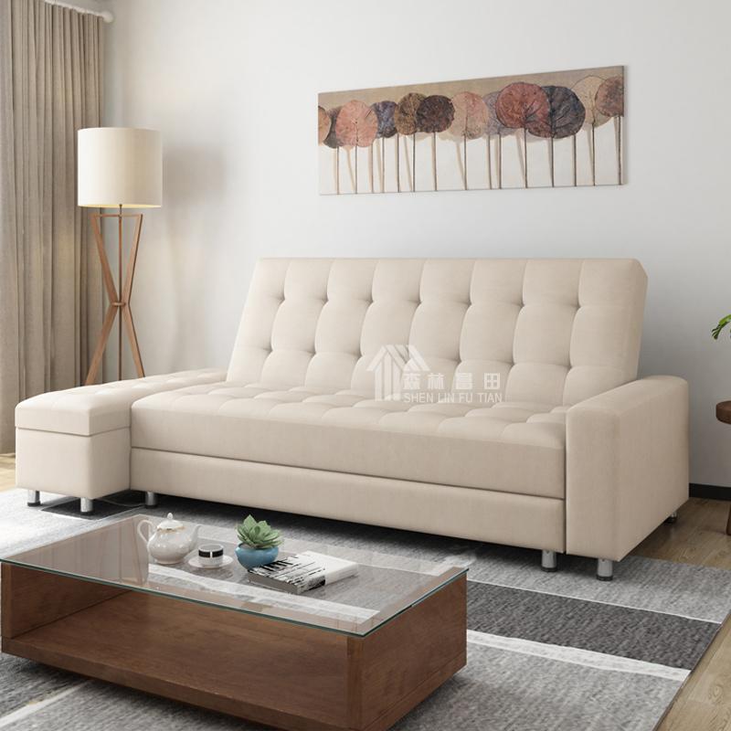 λάτεξ καναπέ - κρεβάτι πτυσσόμενο καναπέ στο σαλόνι του μικρού μεγέθους της πολυλειτουργικής διπλό απλή αποθήκευση ξηλώσω το ύφασμα καναπέ