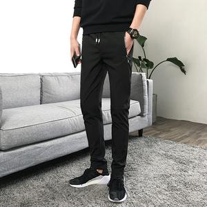 褲子男2018哈倫休閑褲情侶百搭學生寬松運動九分褲(實拍)704