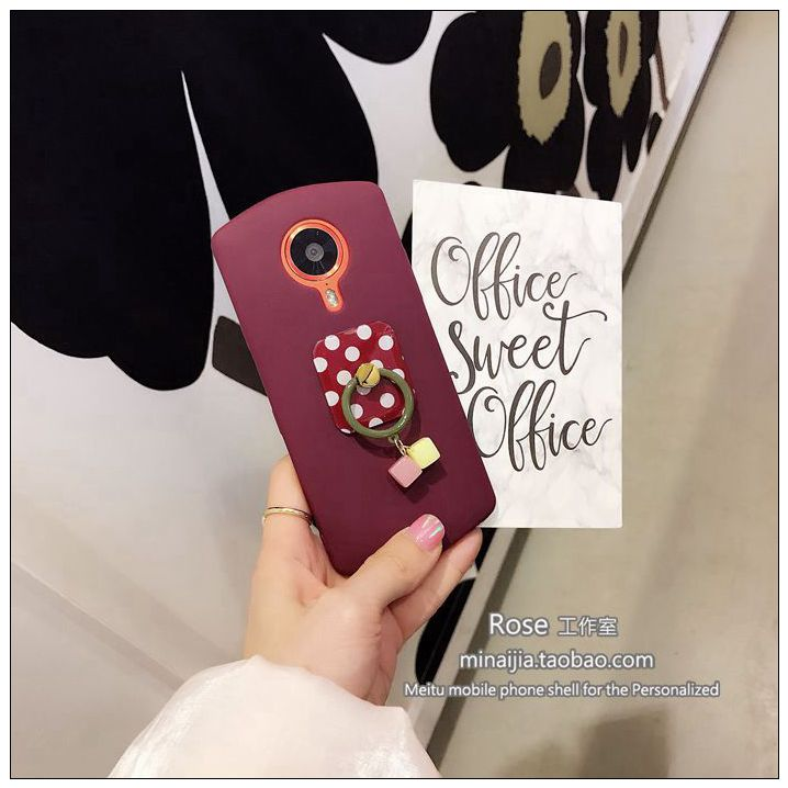 On the Korean waves point Gemstone Pendant circle T8 mobile phone shell beauties M4/M6s/M8 matte soft sleeve falling trend