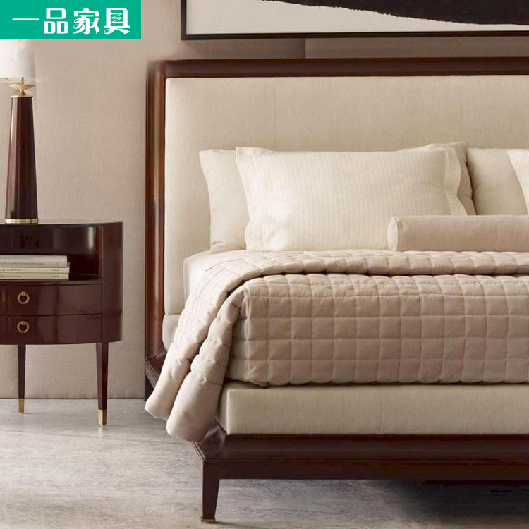 Multifunctional marriage bed double bed, 1.8 meters, 2 meters, 2.2 beds master bedroom, modern simple economy small family solid wood