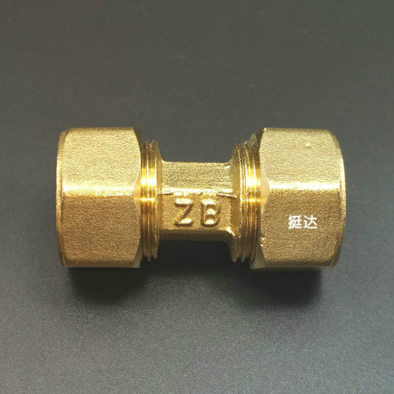 Aluminum plastic pipe copper joint diameter, diameter, diameter, direct through 12161418162020252532