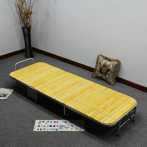 El fortalecimiento de la Oficina del triple de la cama cama plegable cama cama individual simple bambú hogar dormir en la cama con la rueda de la cama