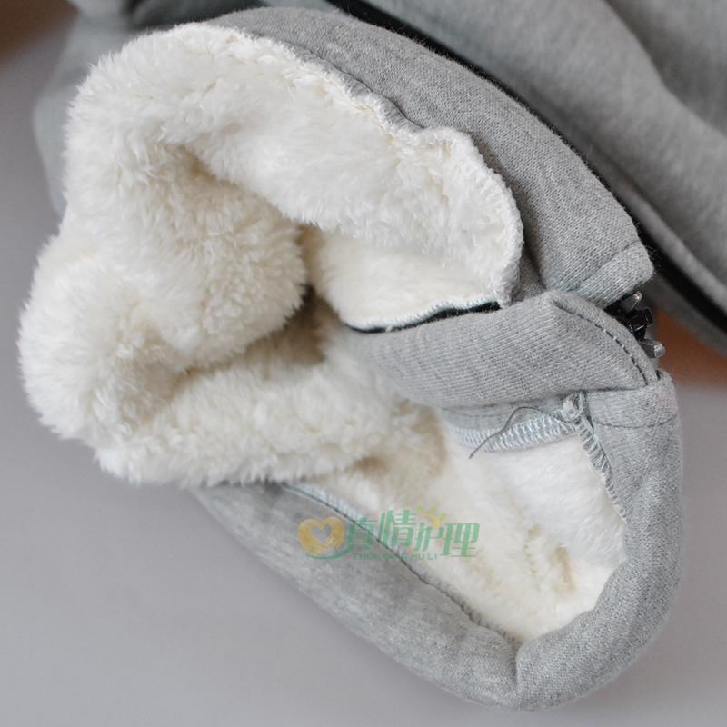 Плюс кашмир сгъстен зимата топло цип кърмещи панталони пациенти отворени странични панталони пълното отворено легло за мъже и жени
