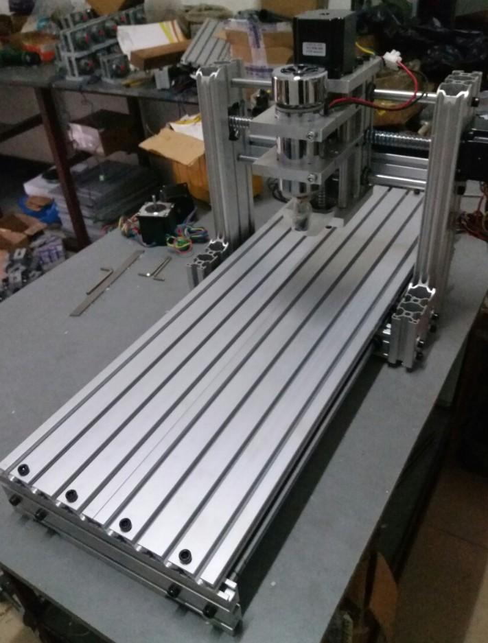 Mała maszyna do grawerowania CNC 3040 DIY całkowicie aluminiowa maszyna CNC MACH3 czwarte A-rdzeniowe drewno jądrowe
