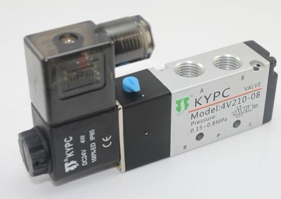 KYPC open source пневматический элемент второй позиции пяти через 4V210-08A клапан клапан электромагнитный клапан вентиляции
