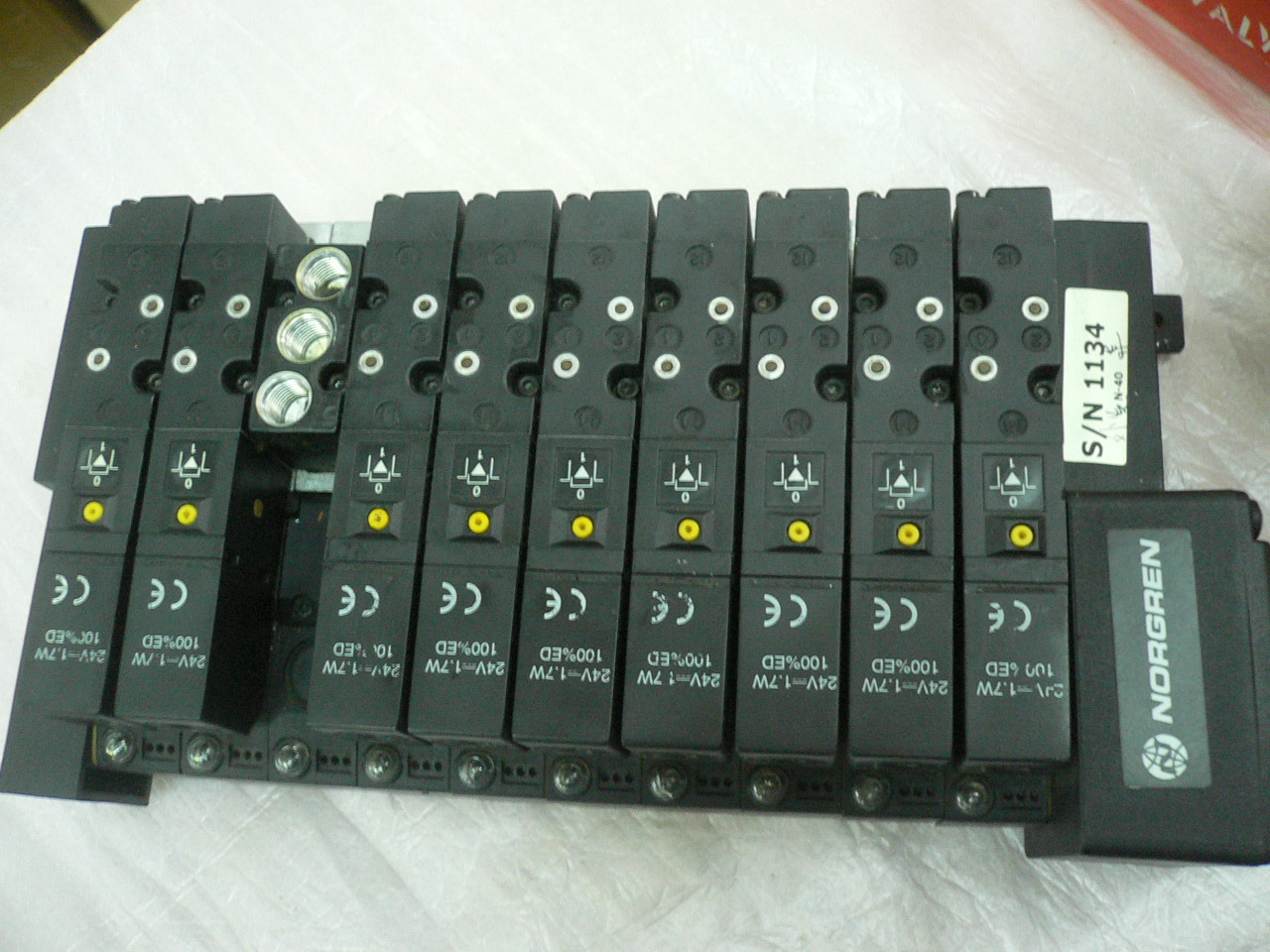 NorgrenV096526AB313A electronically controlled directional valve
