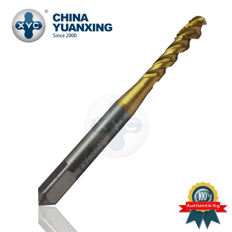 With metric thread screw tap Cutting Tapping Machine (JIS) TIN-SFTM1-M12 Ti