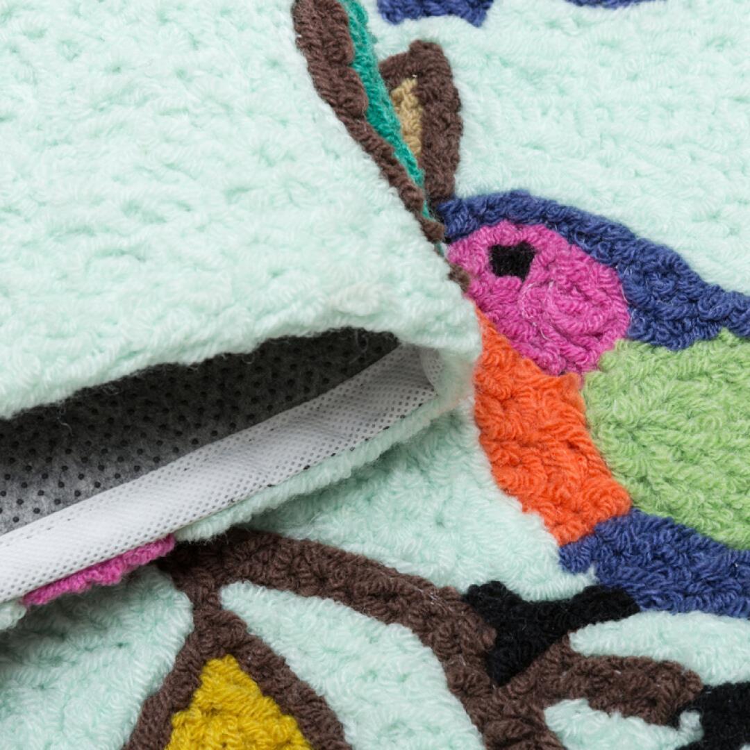 Unires alfombra una caricatura de tejer alfombras de cocina Junta polvo absorbente puede usar alfombras antideslizantes de lavado