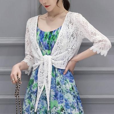 小披肩蕾丝衫2017夏装女开衫外套短款防晒衣空调衫蕾丝外搭女薄款