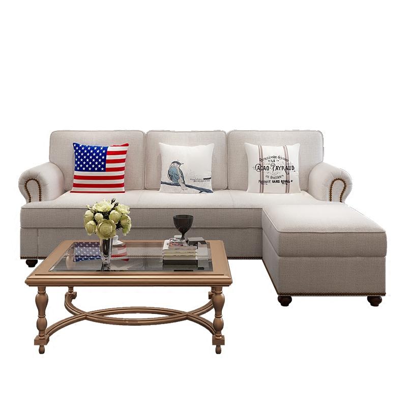 多機能アメリカンカントリー布製ソファベッドルームの貯留藝3人ソファーベッドなまけ者
