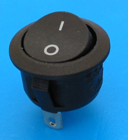 The rocker switch lighting power switch round boatlike switch pin two second authentication
