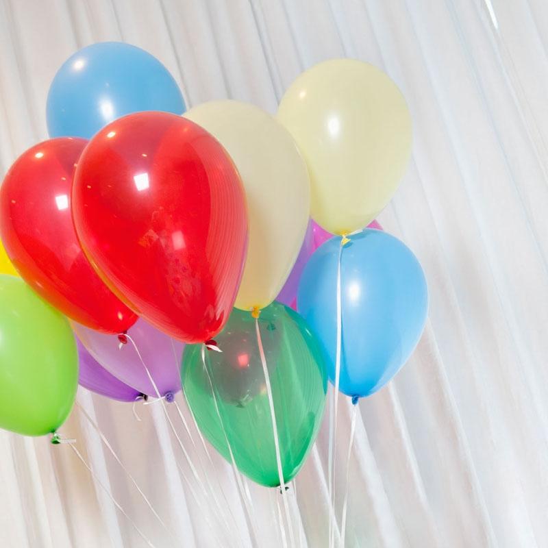 1.8g白色1.8g加厚珠光氣球10寸圓形乳膠氣球 婚慶生日布置拱門氣球