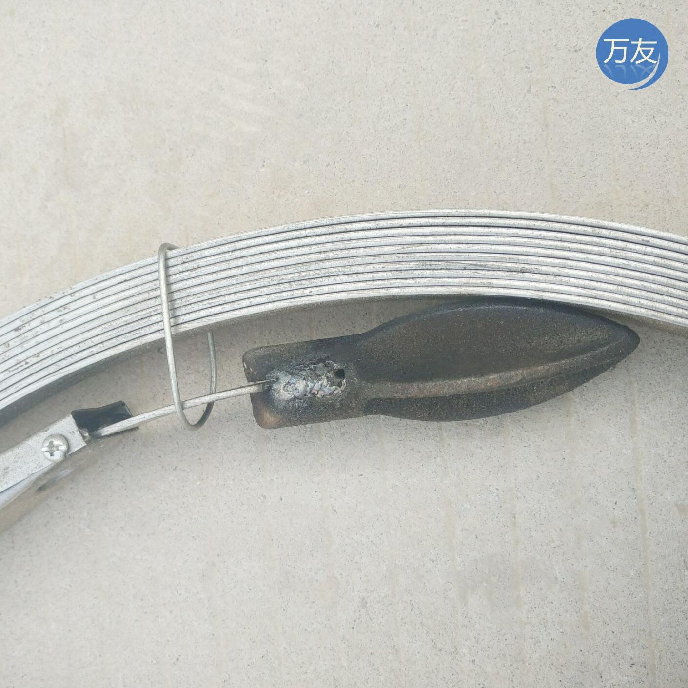 La venta directa de la fábrica de acero de la tubería a través de 65 draga de alcantarillas de flejes de acero de 1,8 cm de 14 euros / metros