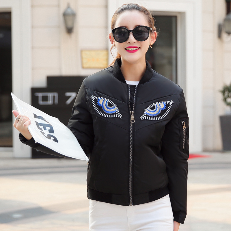 Kappa 2016 autumn winter new cotton time eye of the star with a slim female cotton factory direct sales