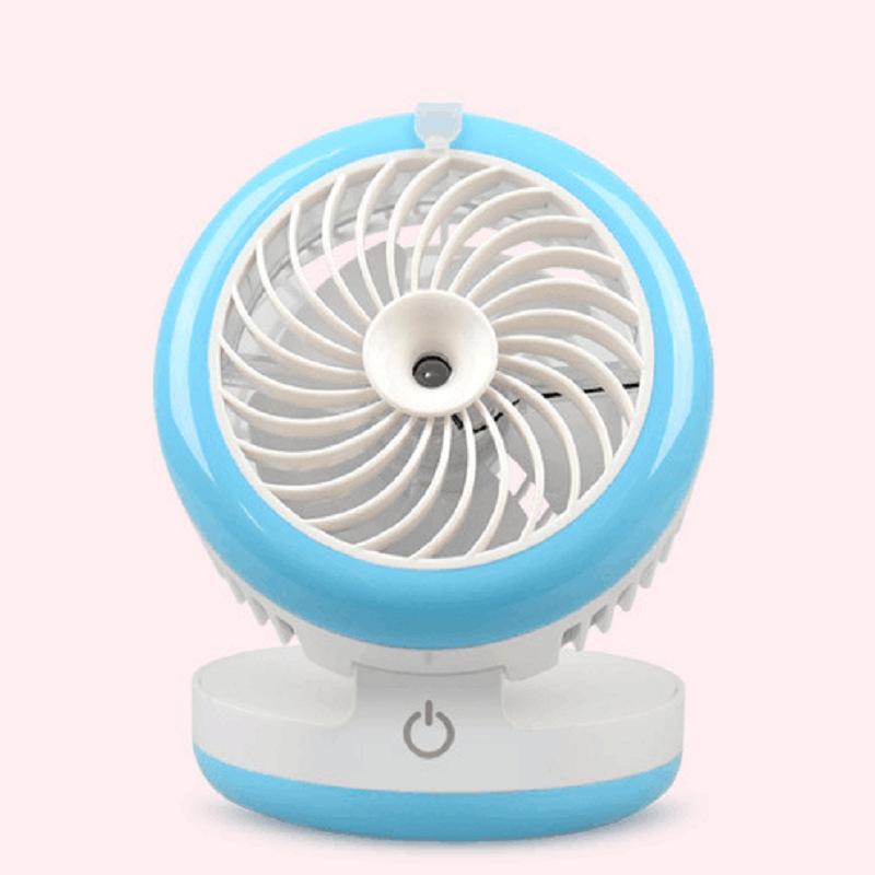 Desktop Mini beauty spray fan, mobile power supply, USB humidifier, fan, air conditioning, small fan creativity