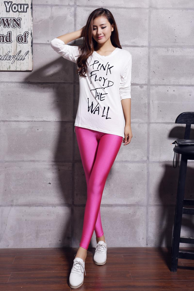 Sexy Skinny Leggings Women Apparel Shiny High Waisted Stretchy Disco Hot Pants | eBay