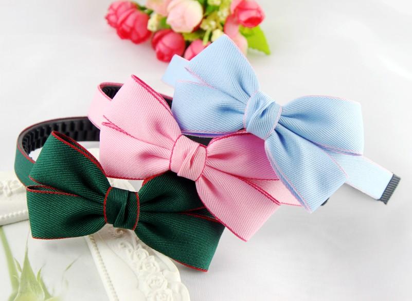 韓国の輸入児童女児髪飾り頭のアクセサリの可愛い姫リボンカチューシャ頭箍ヘアピン帯歯
