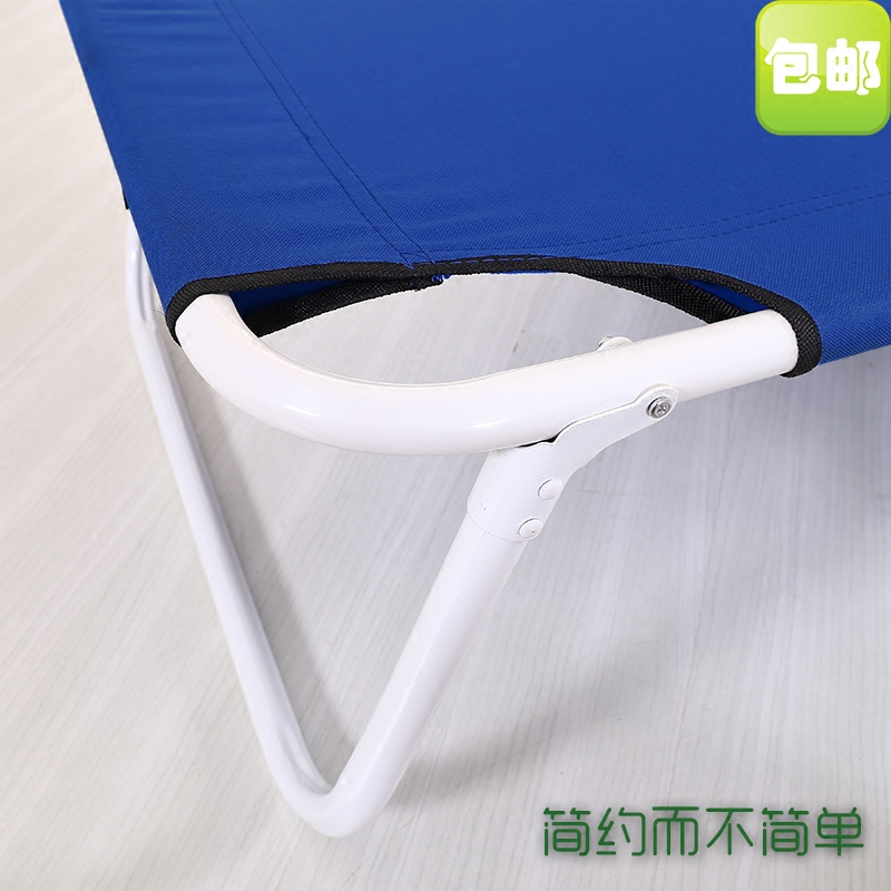 Folding bed, single bed, office lunch bed, nap bed, outdoor bed, mute canvas bed, accompanying bed
