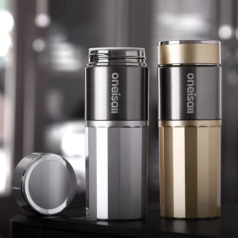 High grade stainless steel ceramic liner cup, men and women business car portable vacuum straight body kettle