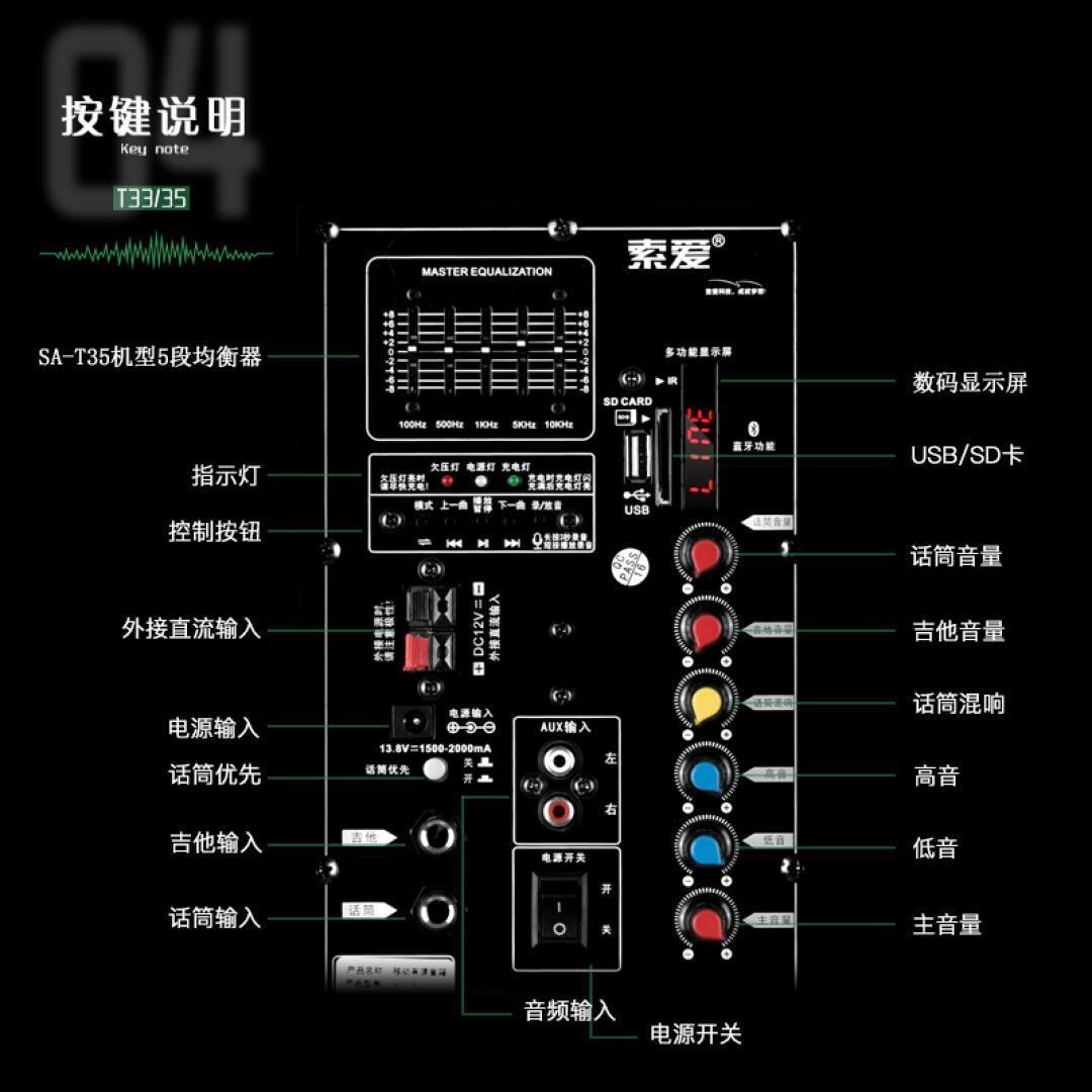 Sony Ericsson Mobile Square - dance - Bewegung zieht der hochleistungs - bluetooth - lautsprecher MIT 12 - Zoll - Bass