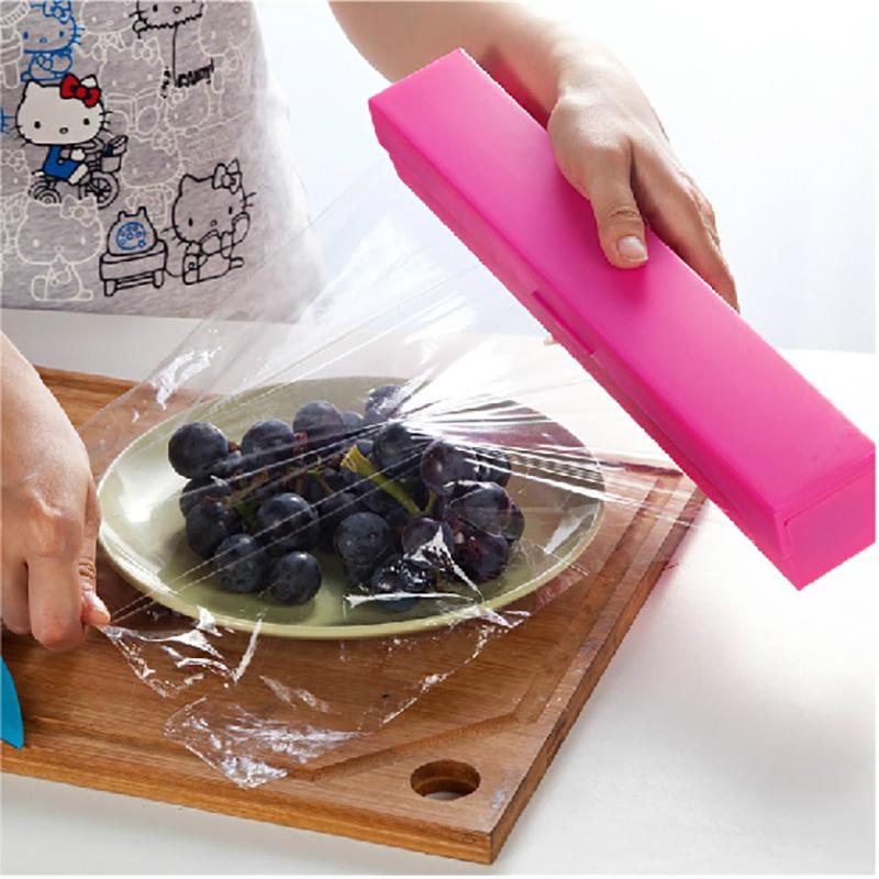 เครื่องตัดฟิล์มห่ออาหารฟิล์มห่ออาหารที่เรียบง่ายตัดกล่องที่ใช้ปลอดภัย 30 ซม. กว้างม้วนฟิล์ม