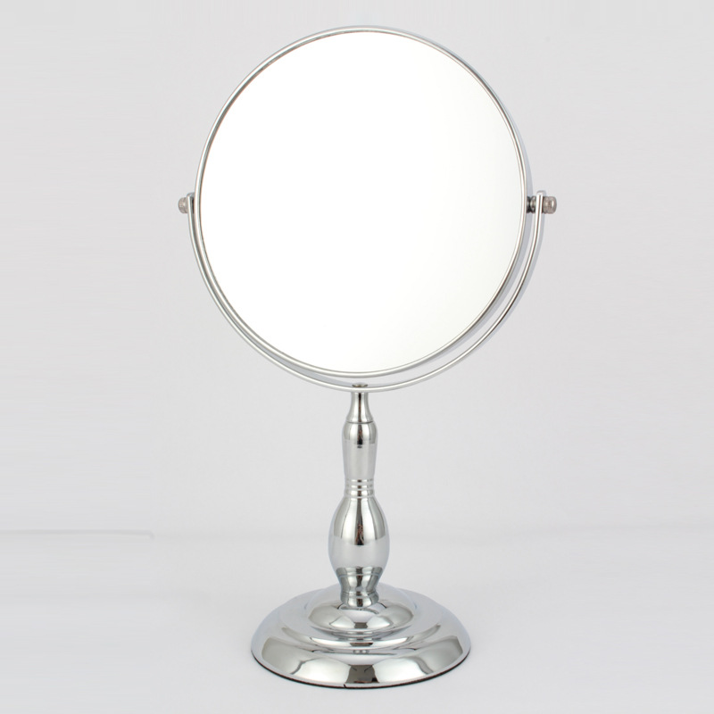 Simple and practical 7 inch led desktop makeup mirror cosmetic dressing double mirror 5 times magnification high definition household