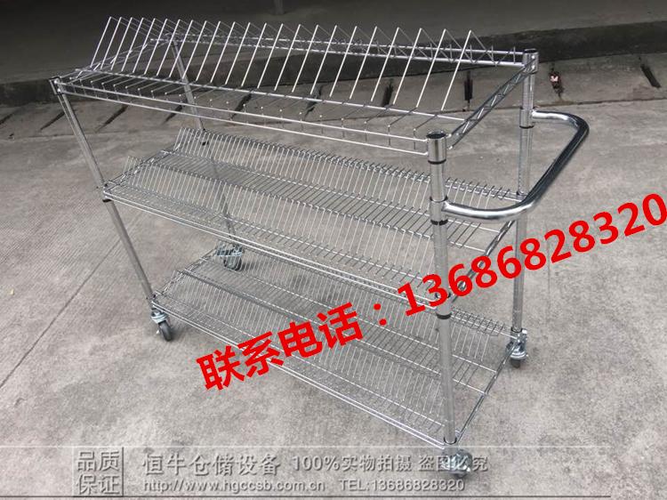 Shenzhen fatturato Auto SMT di materiale DI LABORATORIO la cornice di un materiale unico Disco cromato Filo Rete Rete Due picchi di carrello con Ruote.
