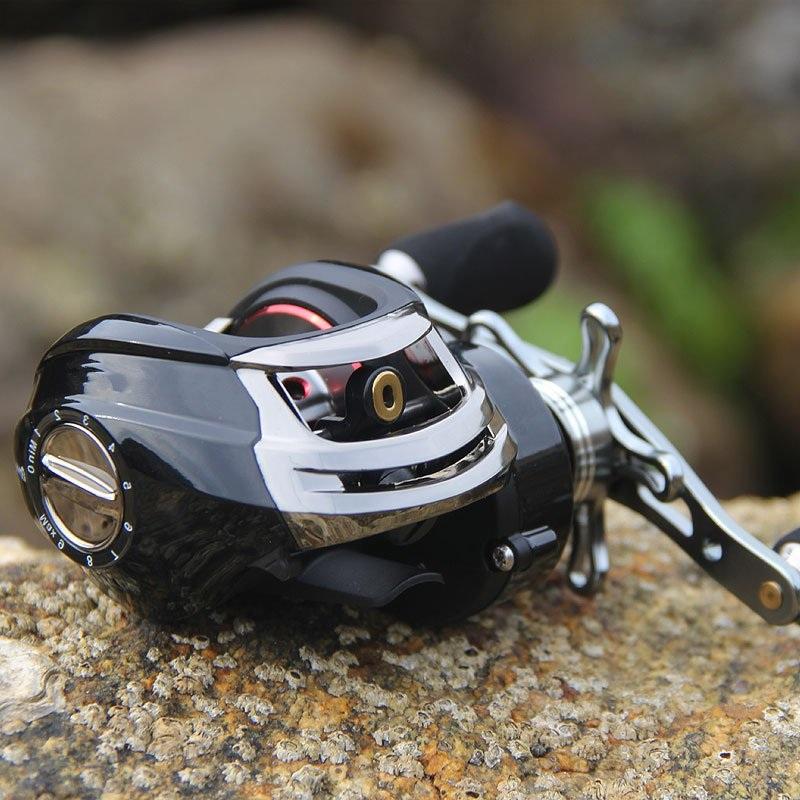 El doble de freno rueda a rueda con gotas de agua magnética de aparejos de pesca mar rueda rueda dentro de gotas de agua de la balsa número de aparejos de pesca de freno de doble línea