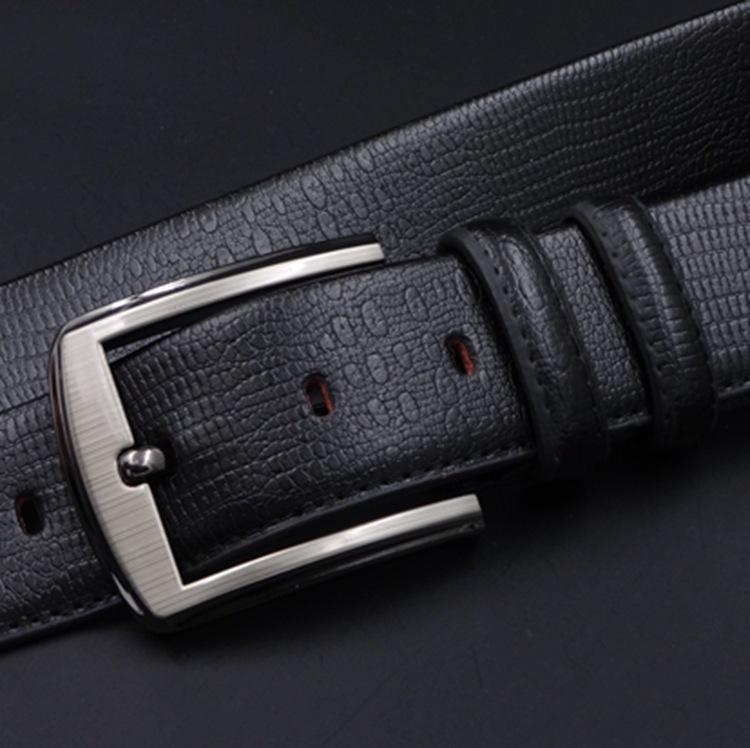 2017 new fashion leather men's waist belt black belts pid