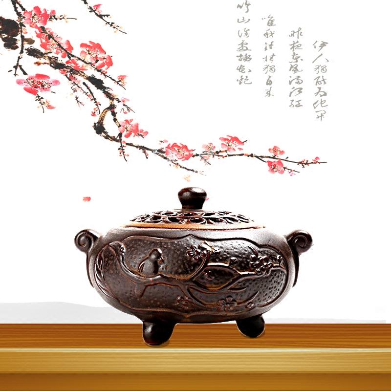 творческие сандалового дерева печь для домашнего интерьера фиолетовый керамический диск кадило ладан аромат сандалового дерева ладан комнаты кабинете печь
