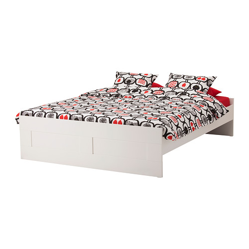 IKEA BRIMNES Braun bedstead, white 1.8*200 domestic purchasing