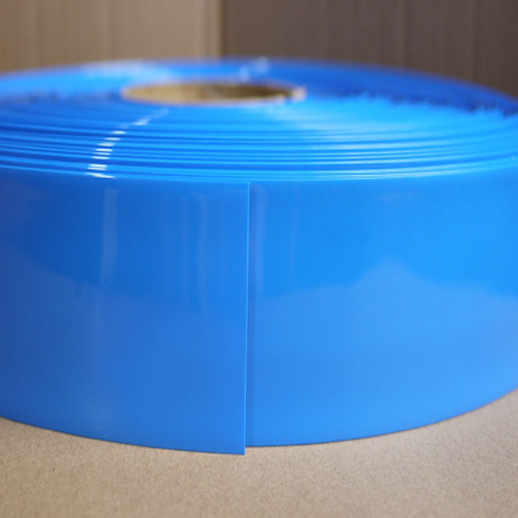 Tubo de PVC transparente 120 mm de ancho de color azul