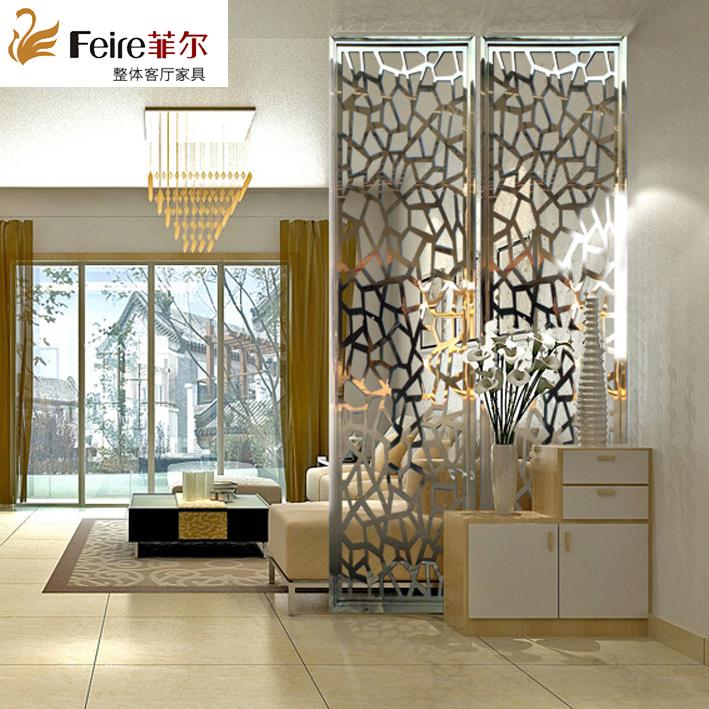 Possono essere fatti di Acciaio inossidabile paravento cinese Moderna Lavorazione semplice finestra con Fiori sullo schermo la Decorazione del Muro