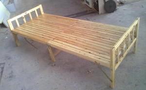 Toda cama plegable de madera de cedro con cama doble de madera plegable / individual / cama plegable / cama plegable / Oficina de la tarde de la cama