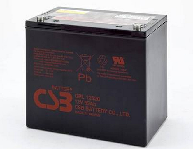 CSB battery 12V52AHGPL12520 uninterrupted UPS battery, UPS battery, UPS power supply