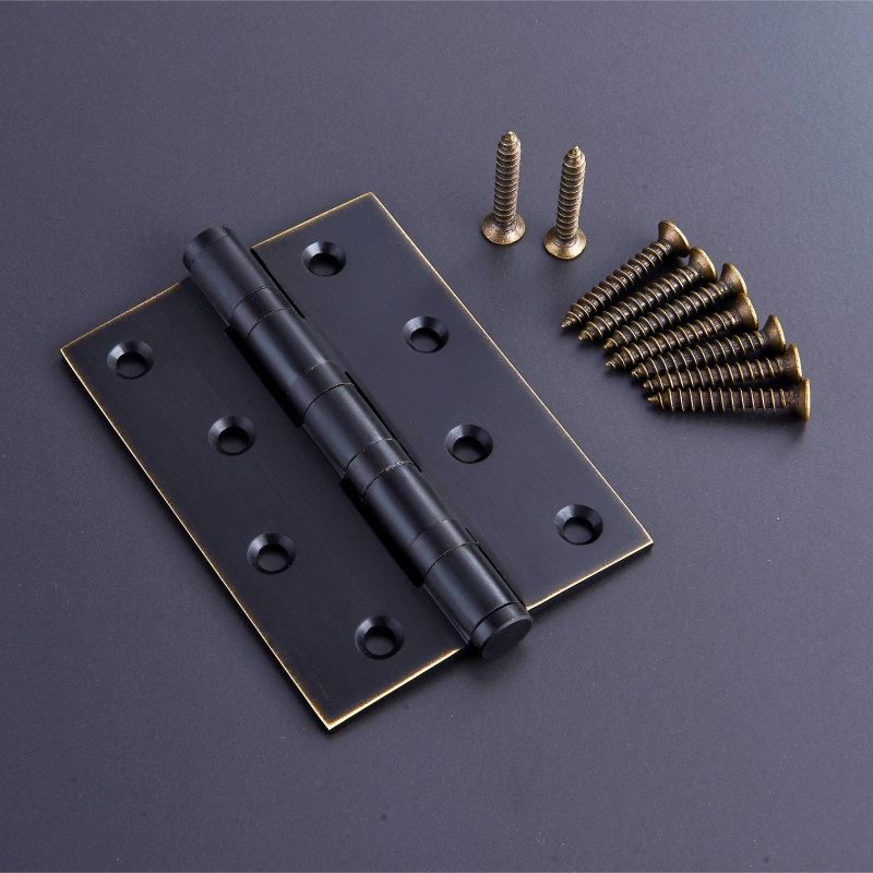 All copper hinge, pure copper door, 5 inch window hinge, flat open furniture fittings, small hinge Antique Chinese Style Bronze