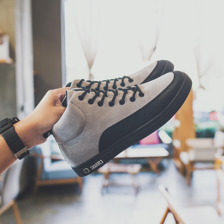 冬季高帮鞋男士休闲鞋韩版潮流板鞋学生鞋子男秋冬男鞋冬鞋运动鞋