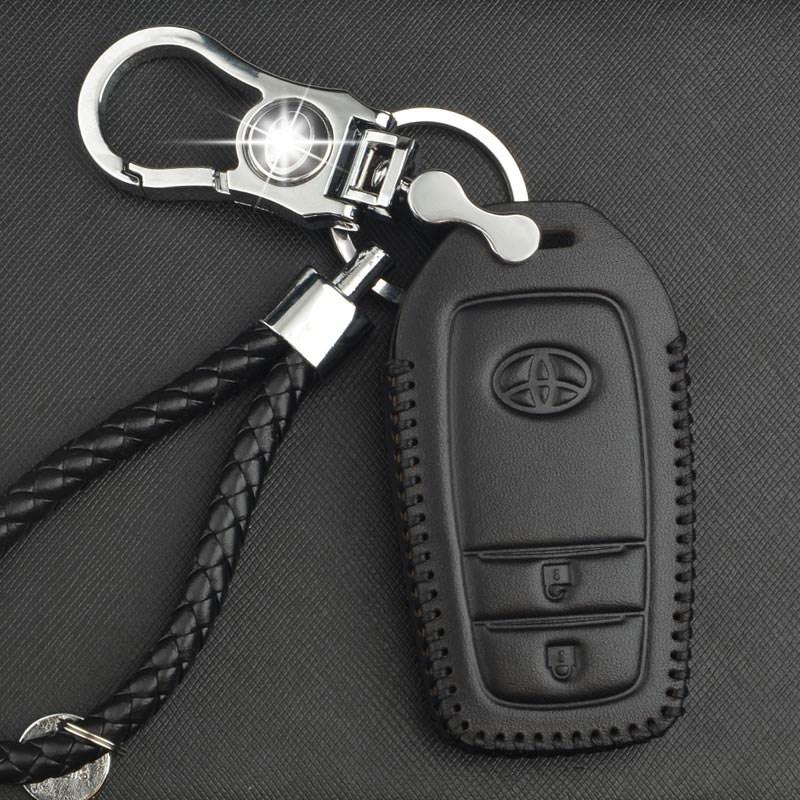 Pacote especial para corolla carro chave controle remoto couro genuíno chave conjunto de mangas de protecção de produtos modificados