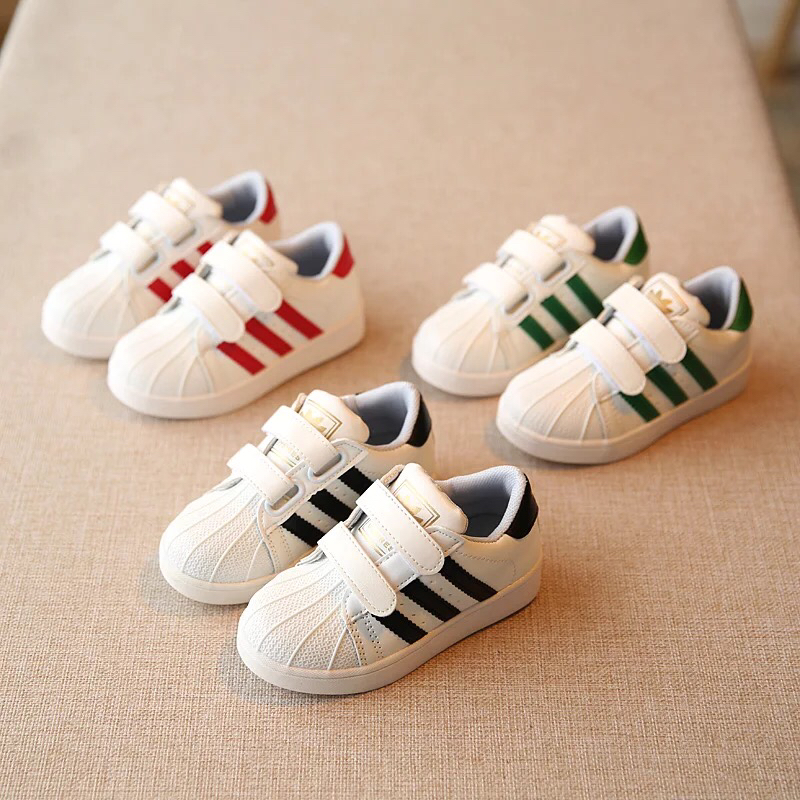 秋冬季加绒棉鞋儿童运动鞋贝壳童鞋女童男童白色单鞋休闲鞋宝宝板