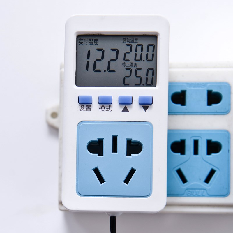 Electronic temperature control socket, liquid crystal display intelligent temperature controller, temperature controller, temperature controller, temperature control switch