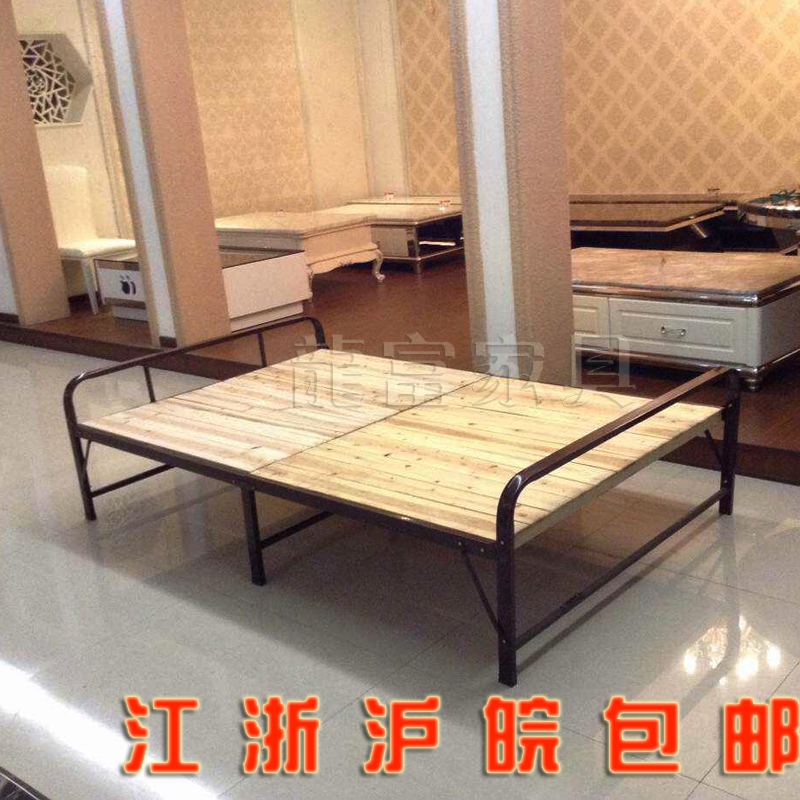 Office lunch bed, folding bed, double bed, children's solid wood bed folding bed, single bed folding bed, wood bed