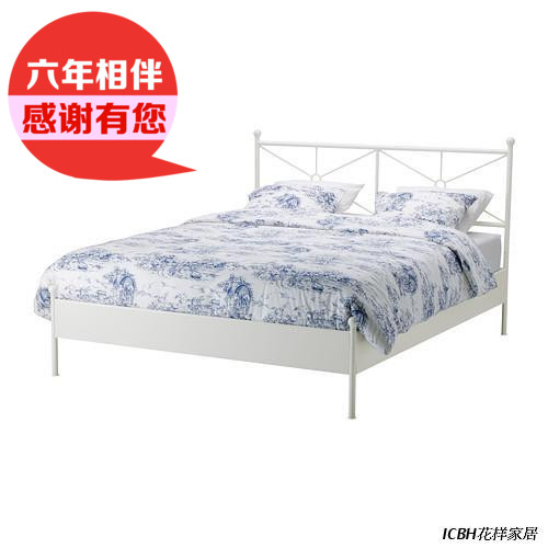 IKEA IKEA domestic purchasing Mossbauer to double iron bed steel bedstead wooden bedroom furniture